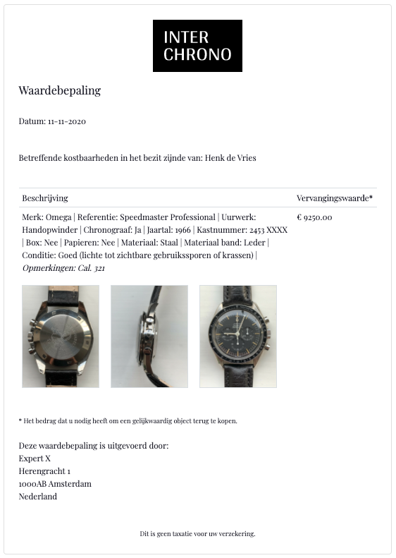 waardebepaling-document